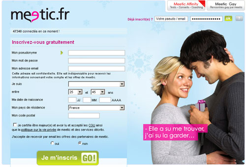 Tarif site de rencontre meetic